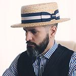 Шляпа STETSON арт. 2938502 BOATER (бежевый)